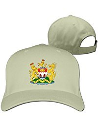 Custom Coat Of Arms Of Hong Kong (1959-1997) Cotton Adult Flat Hat Sun Hat Gift