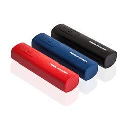 RealPower PB-T1 Single black externer kompakter Akku Batterie Handy Ladegerät Powerbank 2600 mAh für iPhone, iPad, Samsung Galaxy und weitere Smartphones (Schwarz/Rot/Blau)