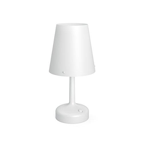 Philips 7179631P0 - Lámpara de mesa (para dormitorio o salón, IP20, nivel de protección III), color blanco