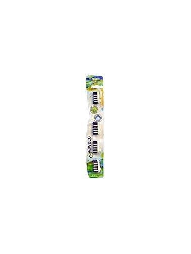 YAWECO Zahnbürsten: Wechselköpfe 4er med. Nylon (1 stk)