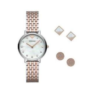 Emporio Armani Reloj Analógico para Mujer de Cuarzo con Correa en Acero Inoxidable AR80019