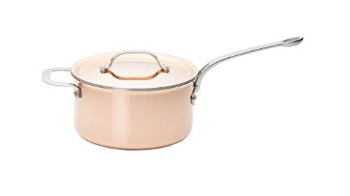 Copper Tri-Ply Cookware Saucepan, 20cm