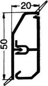 Rehau Elektro.Inst. SL-L Kanal 17338101100 20/50 rws SL-L 50 Sockelleistenkanal komplett 4007360079017 von Rehau Elektro.Inst. auf Lampenhans.de