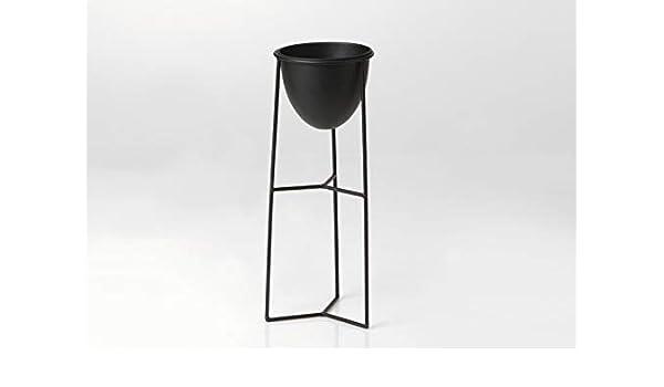 Amadeus Porte-plante en m/étal de couleur noire