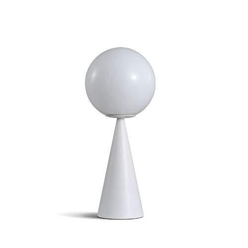 Yzyamz Tischlampe, Nordic Postmodernen Led Tisch Licht Kunst Kegel Goldene Glas Warme Nacht Bar Cafe Studie Mode Dekoration Lampe (Color : White, Size : White Light) -