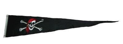 Langwimpel Pirat Kopftuch Fahne Flagge Wimpel ()