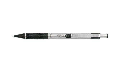 Zebra M-301 Stainless Steel Mechanical Pencil, 0.5mm, Black, 12 Pack (54010) by Zebra Pen (Zebra Druckbleistift 301)