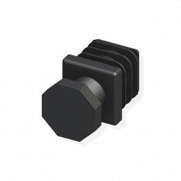 2 pieds réglables noir 23.5mm pour tube alu et pvc