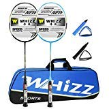 4. WHIZZ 2 Player Graphite Frame Badminton Racket Set