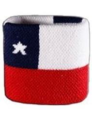 Digni® Poignet éponge avec drapeau Chili, pack de 2