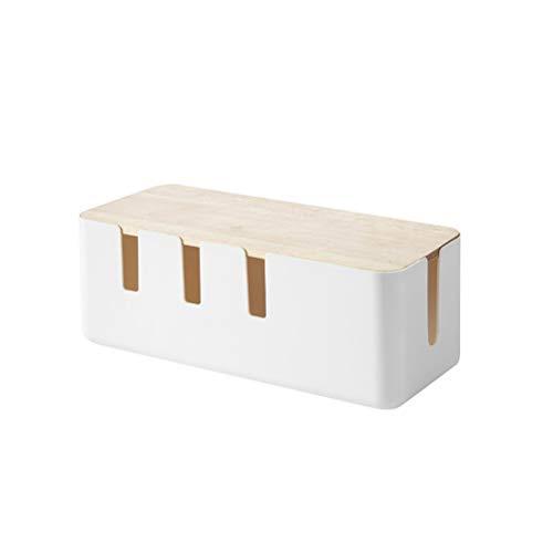 Yardwe STOBOK Kabelbox Kabelmanagement Box Kabelaufbewahrung Kabel Organizer Box für Zuhause Büro Schreibtisch Fernseher Steckdose Computer USB zum Abdecken und Verstecken