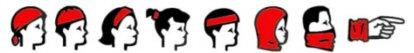 HAD Foulard Multifonctionnel pour Enfants, Polyester, taille 2-4 pompiers, rouge