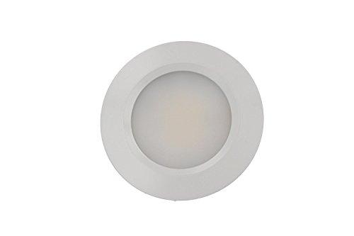 Mini foco LED empotrable Redondo 3W AC/DC 12V DC 24V blanco neutro...