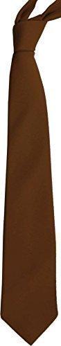 Unicol Einfarbig Einfarbig Schuluniform Krawatten Kostüm Junggesellinenabschied Krawatte 6er Pack - Braun, unisex erwachsene, 132cm