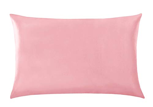 BEST ELLIE Kissenbezug, 100% Maulbeerseide, für Haar und Haut, mit verstecktem Reißverschluss, beide Seiten 19 Momme Seide, 1 Stück Queen 50,8 x 76,2 cm Rose -