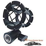 Eggsnow - Clip de soporte para micrófono de cámara, compatible con micrófono Zoom H1, Senheisser ME66, Rode NTG-2, NTG-1,Audio-Technica AT-875R, etc.