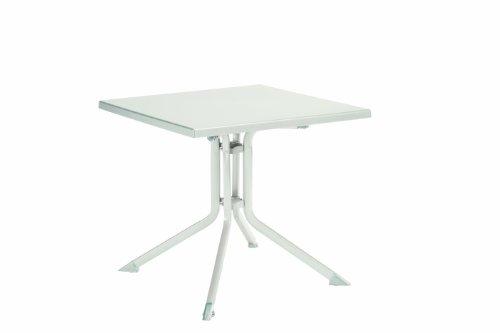 Kettler 0307018-5000 Table pliante Aluminium-Kettalux 80 x 80 cm (Blanc) (Import Allemagne)