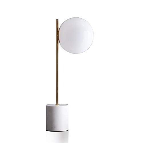 Lámpara de mesa nórdica moderna moderna simple base de mármol ...