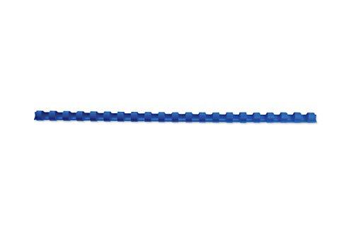 GBC 4028233 - Espirales para encuadernación (100 unidades, plástico, 21 anillas, para 25 hojas A4, 6 mm), color azul