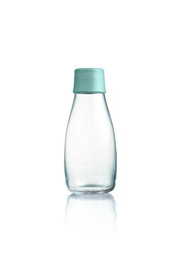 Retap Borosilikatglas Wasser Flasche, Mint blau, 0,3Liter/klein (Glas Trinkflasche Retap)