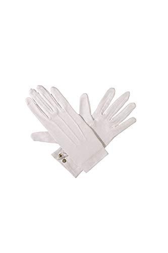 Weiße Clown Handschuhe - Jannes 52002 Weiße Handschuhe mit Biesen