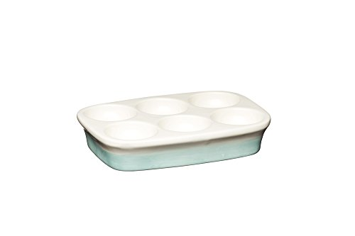 Kitchencraft Apple Ferme à la main vintage Support pour œufs, 15.5 x 11 cm (15,2 x 11,4 cm) – Crème/vert, EN CÉRAMIQUE, Multicolore, 11 x 16 x 3 cm