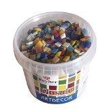 Rayher Hobby 14791999 Acryl-Mosaiksteine Mischung, Glitter, Bastelpackung, bunt, 1.33 x 1.33 x 0.64 cm