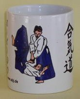 hochwertige Premium Keramik Tasse Aikido