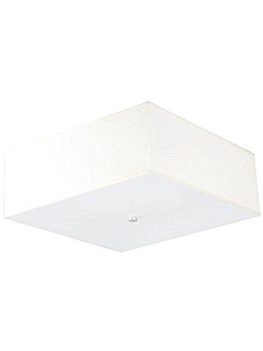 Bauhaus Deckenleuchte (B40cm, Bauhaus, in Weiß, eckiger Schirm, 2-flammig) Küchenlampe Innenleuchte Flurleuchte Deckenlampe