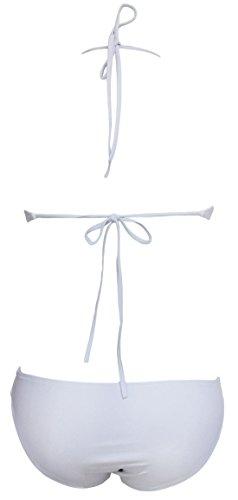 confit you - Damen Bikini mit Cut Outs, S-L, Viele Farben Weiß