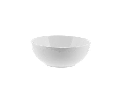 H&H 3684719 Insalatiera Multiuso, Ceramica, 19 cm, Bianco