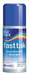 bostik-blu-tack-fast-tak-adhesive-spray-can-repositionable-150ml-ref-80219