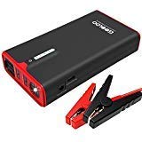 fe Powerbank, 1200A Tragbare Starthilfe USB Quick Charge 3.0 (bis zu 8,0L Benzin oder 6,0L Diesel), 12V Anlasser für Autobatterie mit LED Taschenlampe ()
