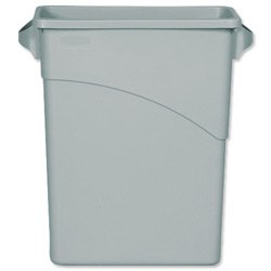 brand-new-rubbermaid-slim-jim-recycling-container-bin-w279xh762mm-60-litres-grey-ref-3541-00-gry