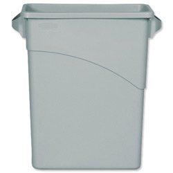 -neuf-conteneur-de-recyclage-rubbermaid-slim-jim-poubelle-a-l-279-x-durables-sans-cfc-60-litres-gris