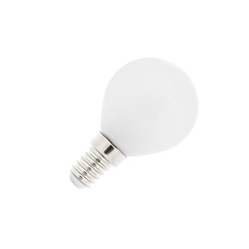 Bombilla LED E14 G45 Esférica Glass 4W Blanco Frío 6000K-6500K efectoLED