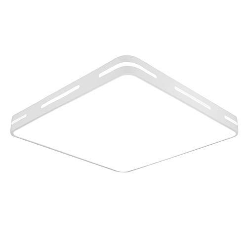 36W LED Deckenleuchte Kaltweiß 50x50x5CM Eckig Deckenlampe 2880Lumen Modern Deckenbeleuchtung aus Metall und Kunststoff Weiß (Weiß Kaltweiß ohne FB, 50x50CM 36W)