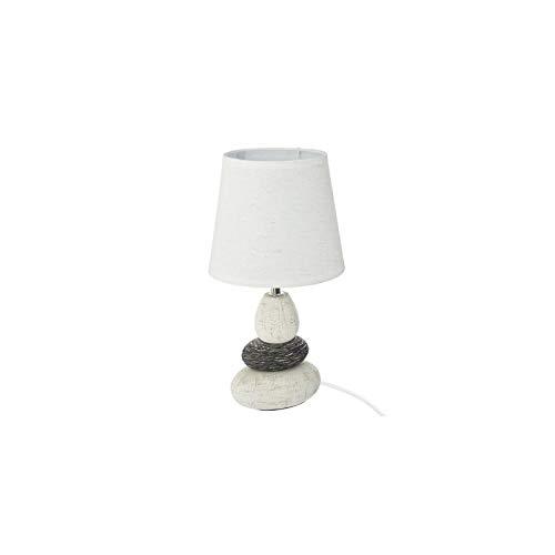 Atmosphera - Lampe en céramique avec 3 Galets H33