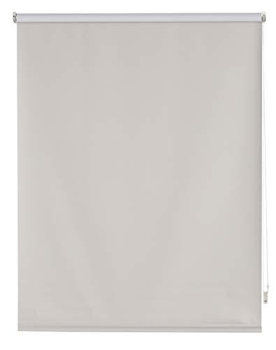 Blindecor Draco Estor Enrollable Blackout Liso, Plateado, 100 X 230