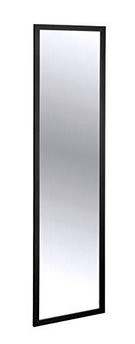 WENKO Türspiegel Arcadia - Wandspiegel, Hängespiegel, 30 x 120 cm, Schwarz