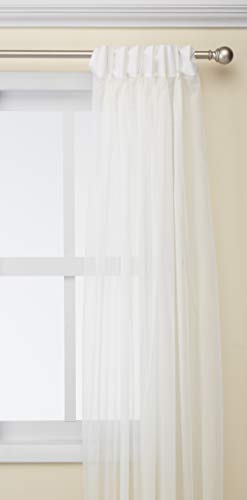 Curtainworks SOHO Voile Sheer Pinch Falte Vorhang Panel, grau, 29 by 95