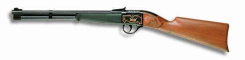Kostüm Jokers Wild - Edison Giocattoli Bison: Spielzeuggewehr in Geschenke-Box für Cowboys und Sheriffs, ideal für Fasching, für 13-Schuss-Munition, 66 cm, braun (E0316/24)