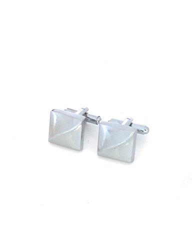 Silver Plain Classic Cufflinks