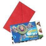 Generique - 6 cartes dinvitation Toy Story 3