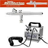 IWATA REVOLUTION BR AIRBRUSHING SYSTEM WITH SILVER JET AIR COMPRESSOR by Master Airbrush