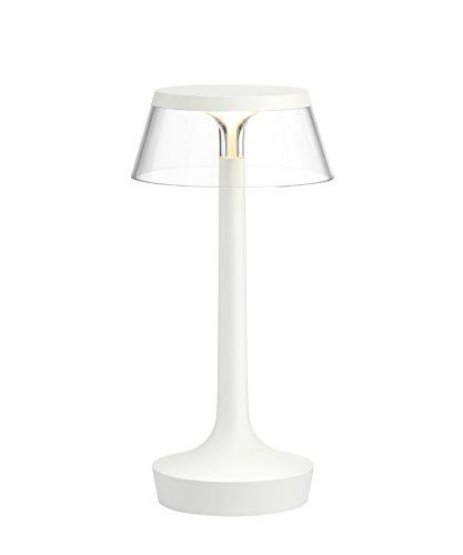 FLOS Bon Jour Unplugged Transparente–Lámpara de Mesa–Color Blanco–Philippe Starck–Color Blanco