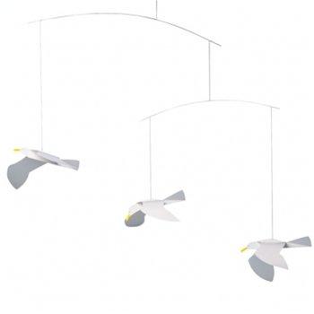 Flensted Mobile Gabbiani, decorazione da appendere fatta a mano in (Childrens Naturali Mobili)