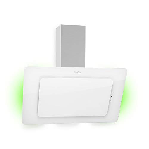 Klarstein Helena 90 Kopffreihaube, 90 cm, EEK A, 595 m³/h, RGB Ambiente-Licht, Umluft & Abluft, LED-Beleuchtung, Touch-Control, Dunstabzugshaube, Wandhaube, weiß
