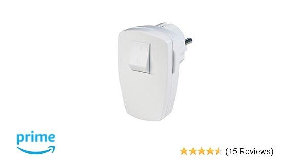 Stecker mit Schalter weiß: Amazon.de: Baumarkt