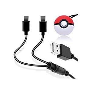 Schnelles 2-in-1 USB Ladekabel für Poke Ball Plus, Ladekabel für 2 Poke Ball Plus Controller, Kabel für Nintendo Switch…